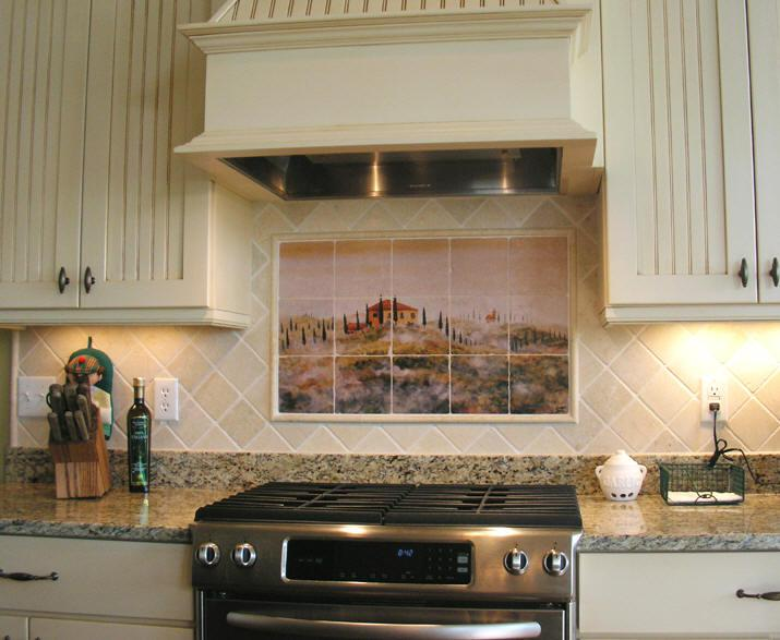 Image of: Metal Stove Backsplash Designs Ideas