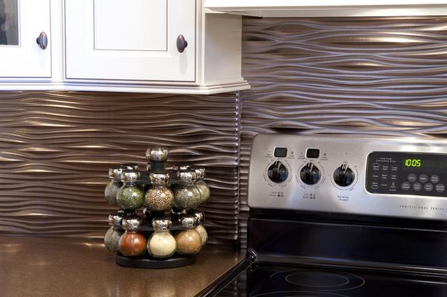 Image of: modern backsplash