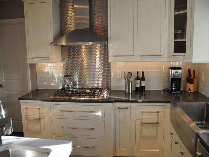 Image of: modern kitchen tile backsplash