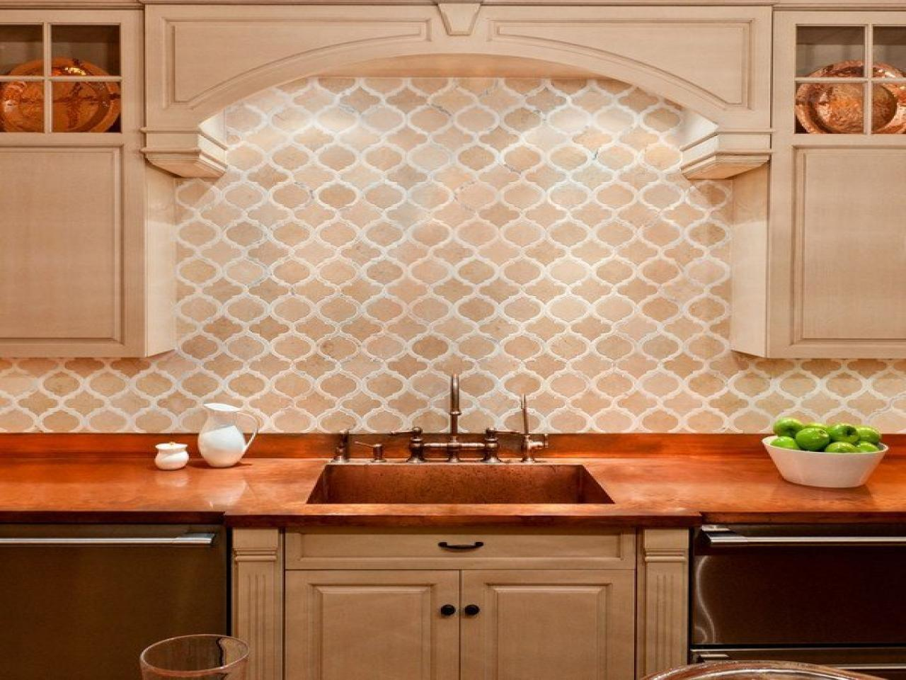 Image of: moroccan glass backsplash