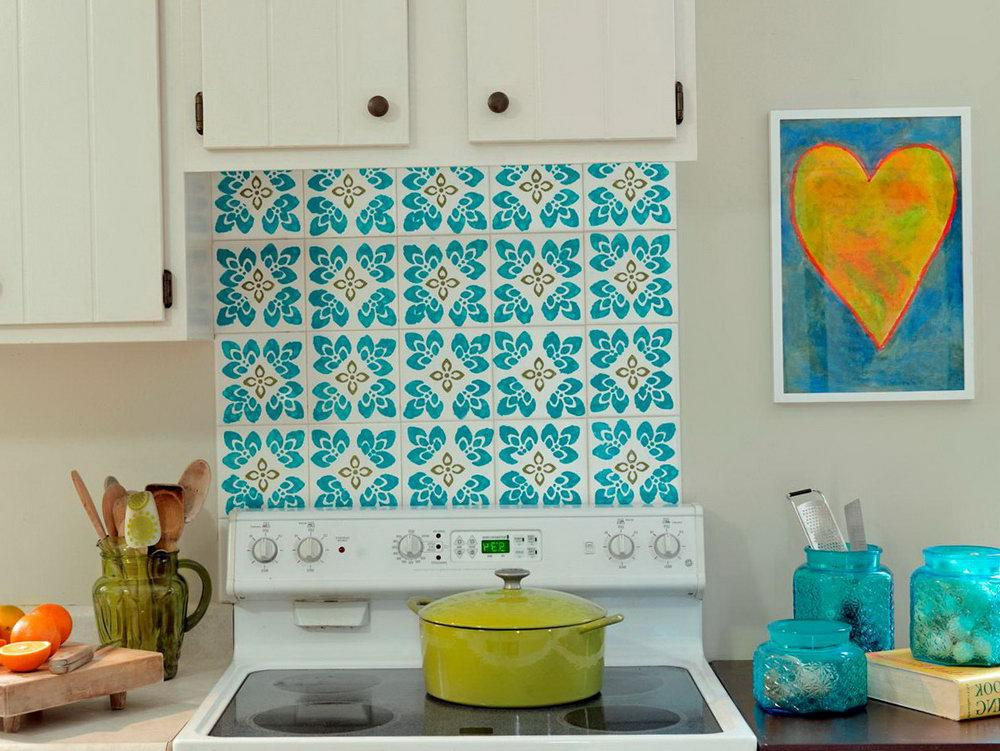 Image of: moroccan tile backsplash blue