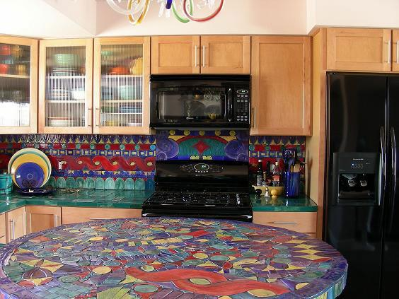 Image of: mosaic backsplash