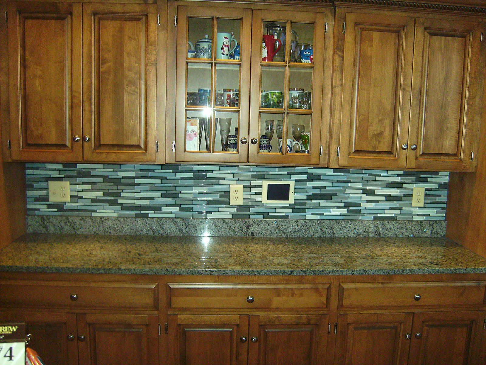 Image of: mosaic tile backsplash