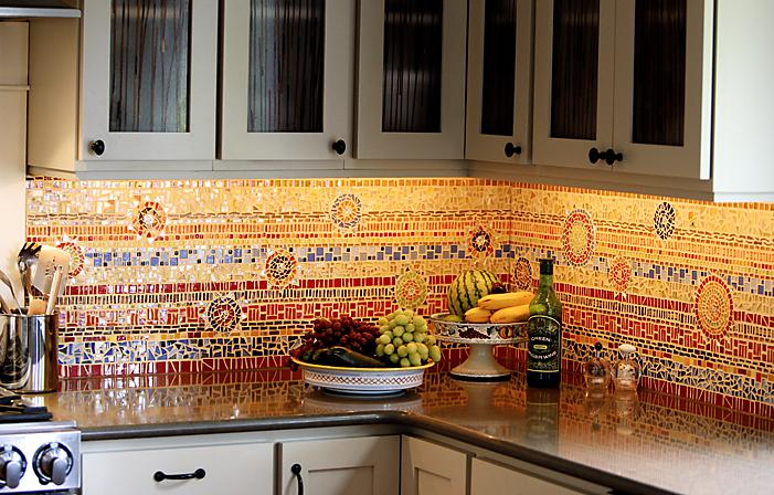 Image of: mosaic tile kitchen backsplash