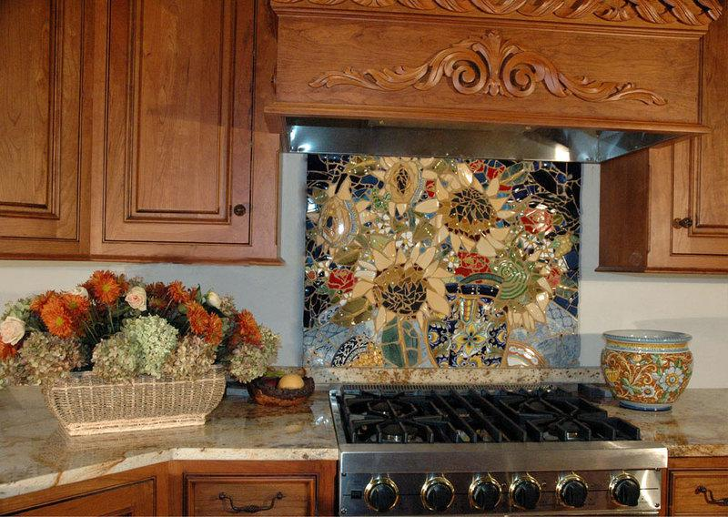 Image of: mosaic tile patterns kitchen backsplash