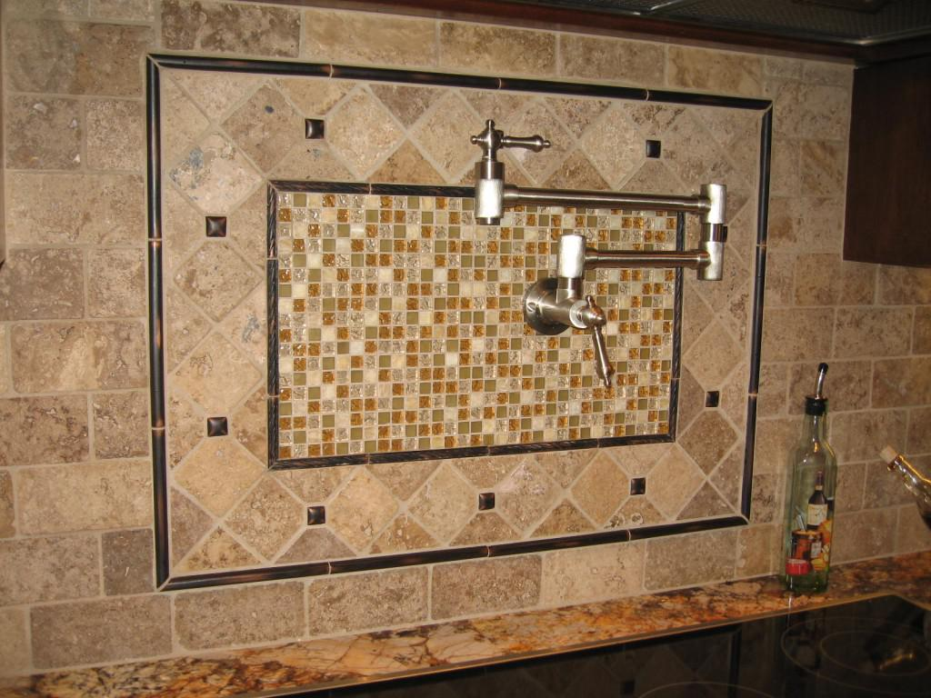 Image of: mosaic tiles backsplash