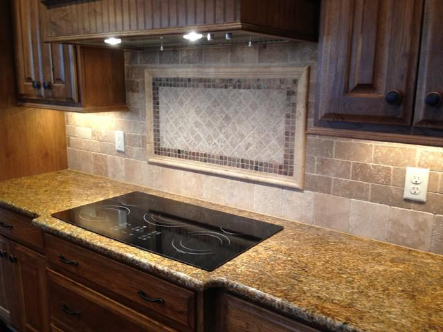 Image of: natural stone backsplash kitchen