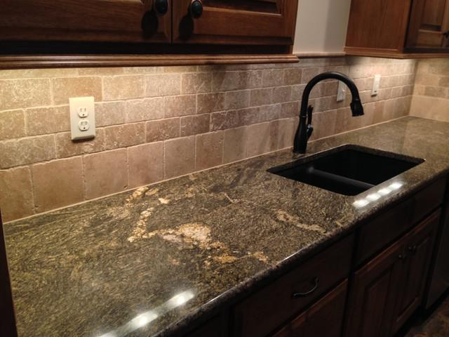 Image of: Natural Stone Backsplash Tile Designs Ideas