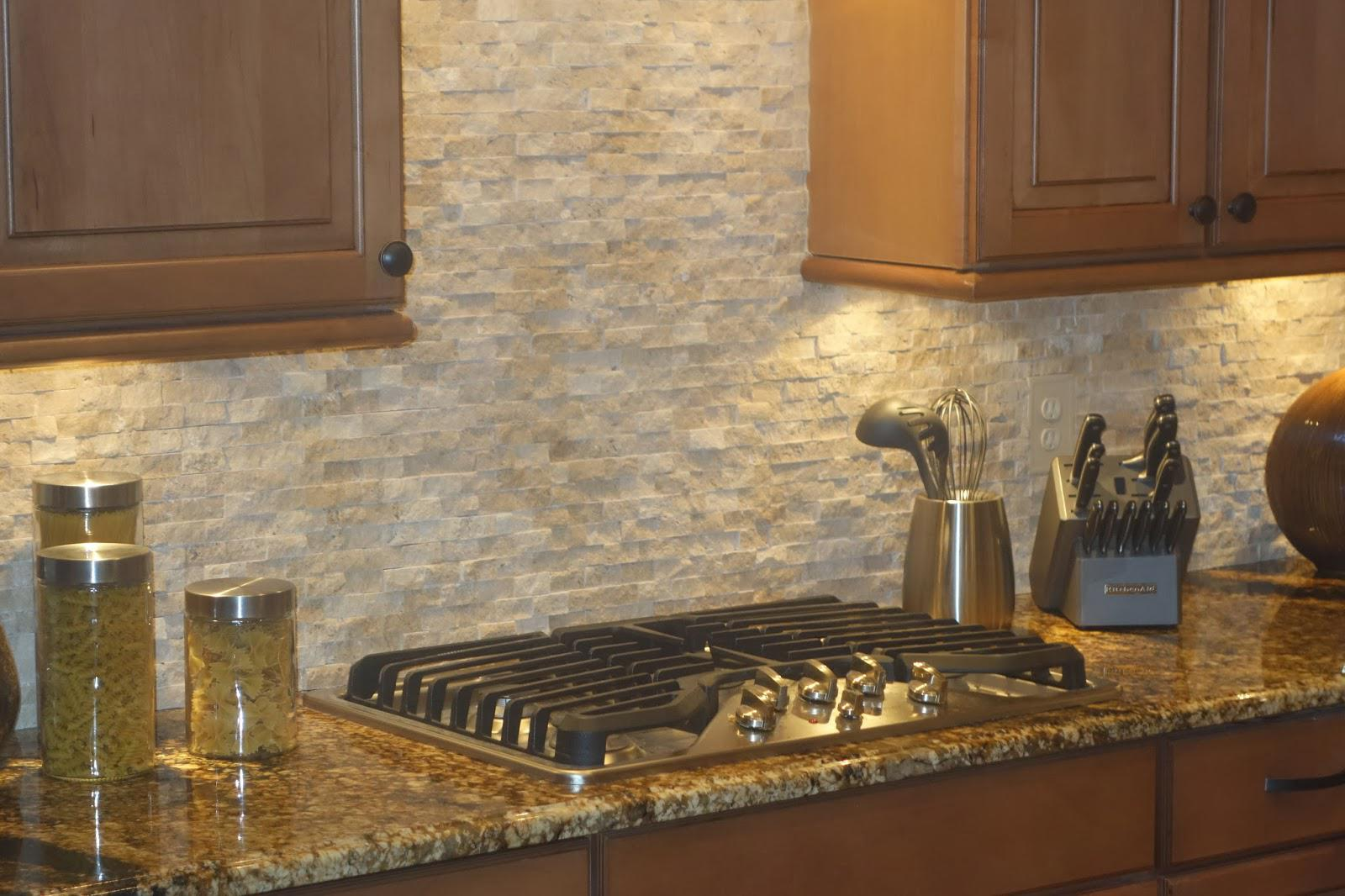 Image of: natural stone kitchen backsplash