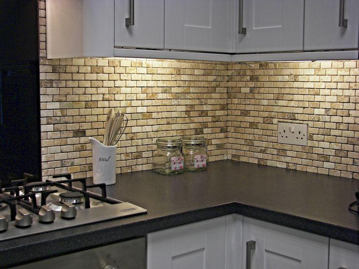 Image of: Natural Stone Tile Backsplash Designs Ideas