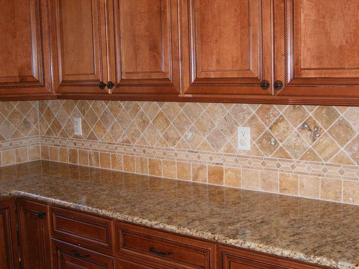 Image of: noce travertine tile backsplash