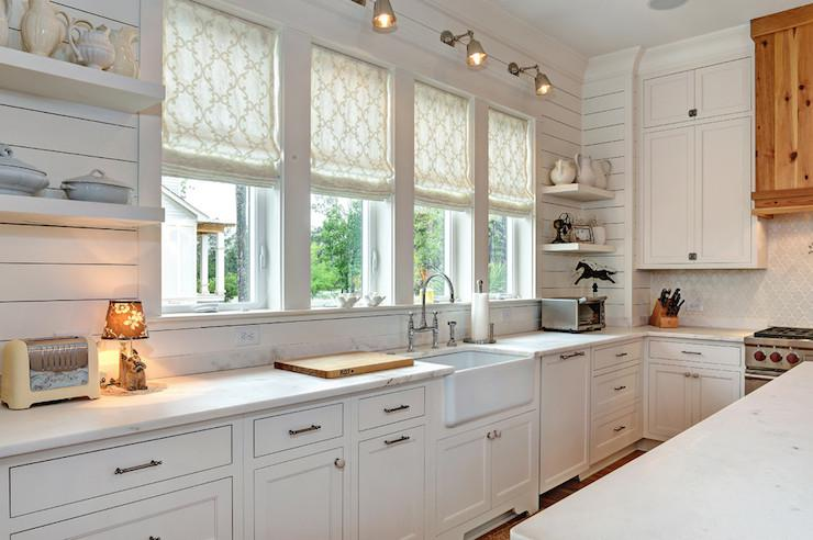 Image of: painted shiplap backsplash
