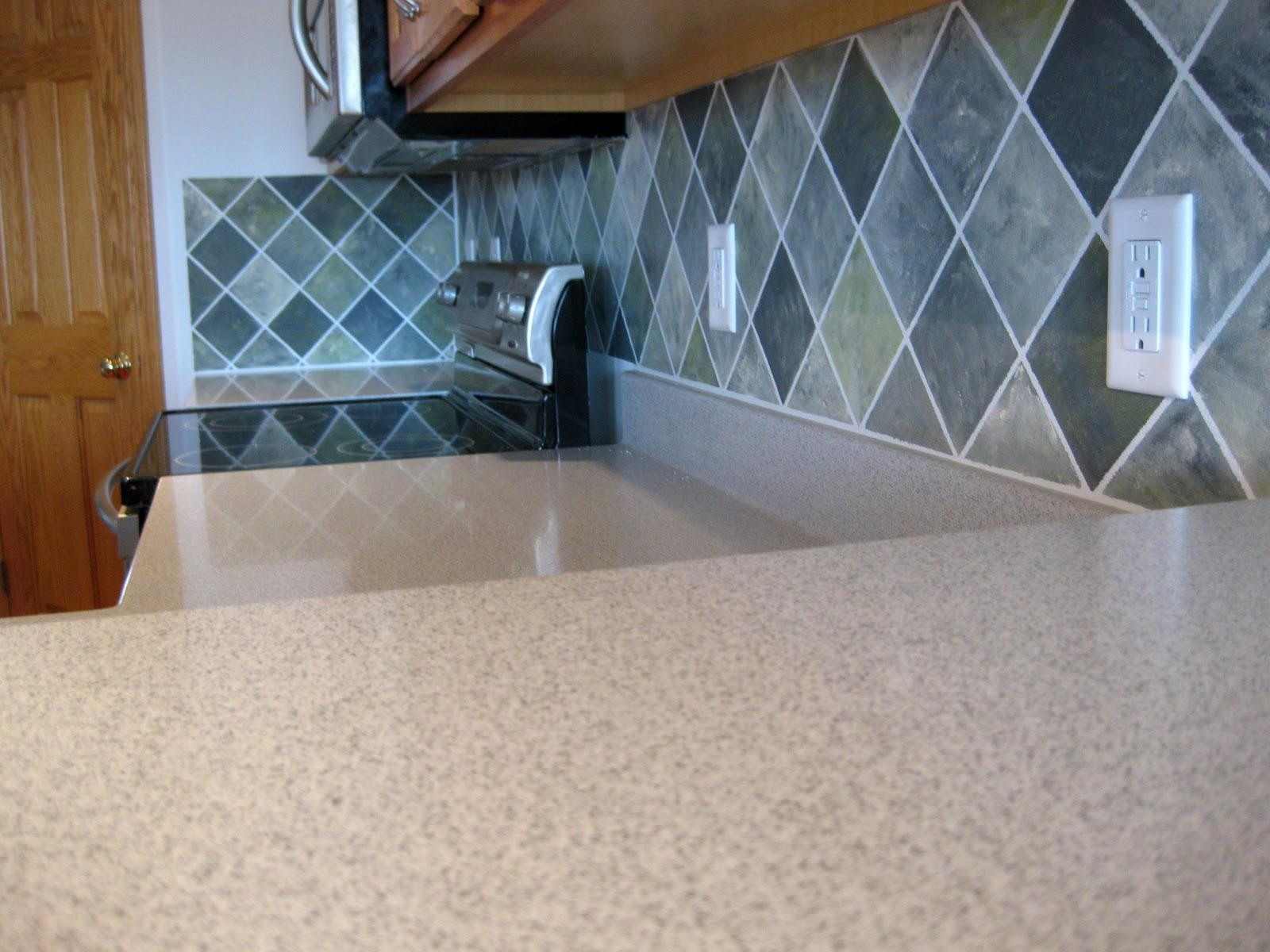Image of: painting a tile backsplash