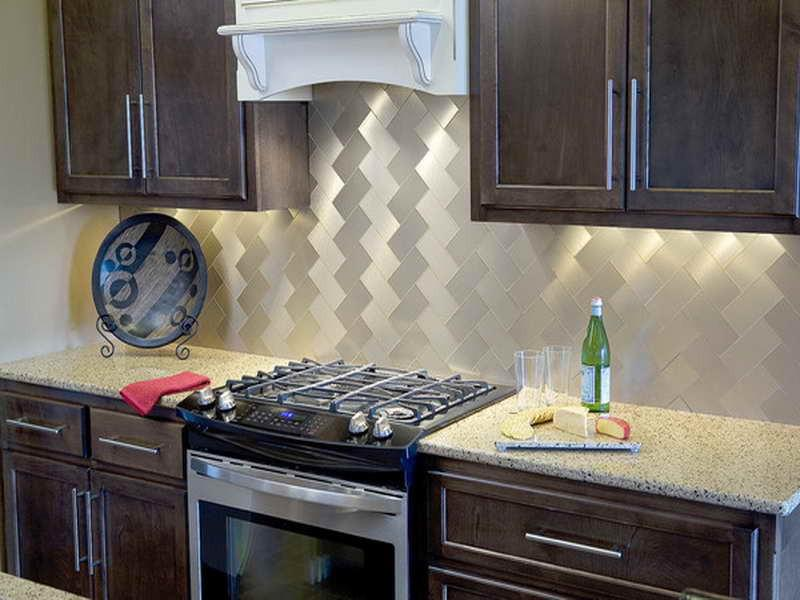 Image of: peel and stick backsplash kits