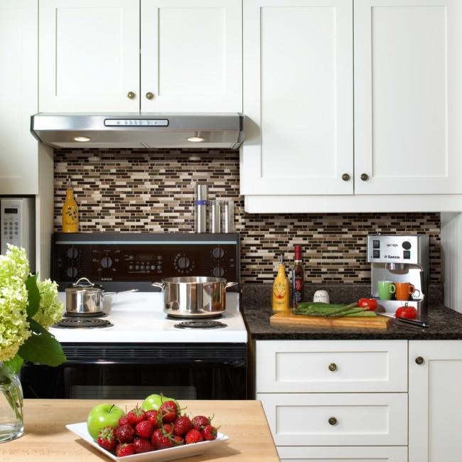 Image of: peel and stick mosaic backsplash