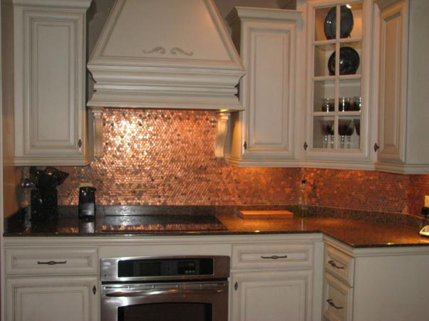 Image of: penny tile backsplash kitchen