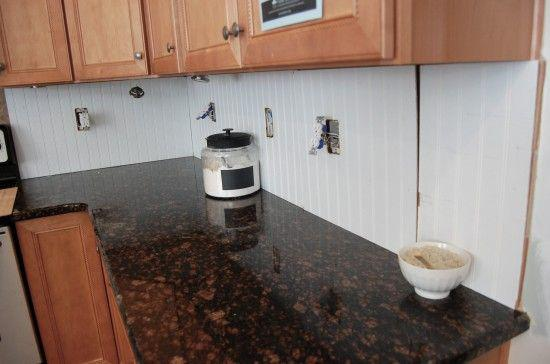 Image of: removable backsplash for renters