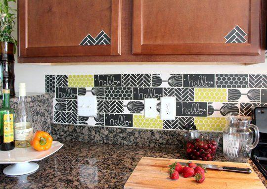 Image of: removing tile backsplash