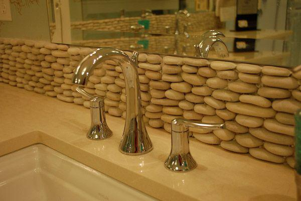 Image of: rock kitchen backsplash