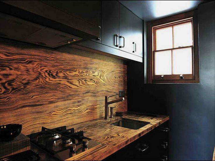 Image of: rustic backsplash