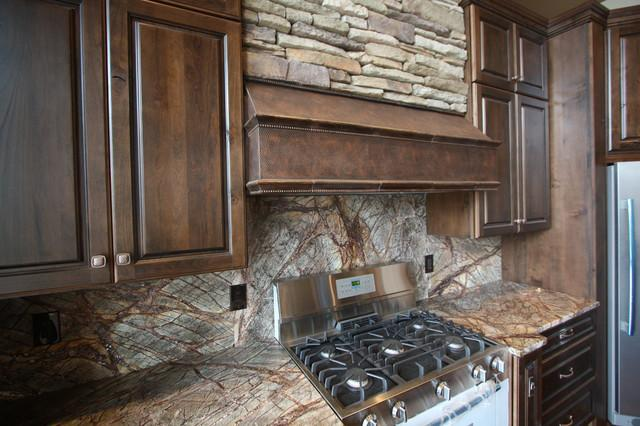 Image of: rustic kitchen backsplash tile