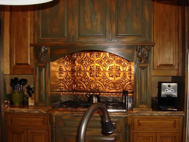 Image of: rustic kitchen backsplash