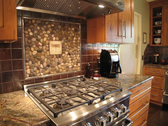 Image of: rustic tile backsplash ideas