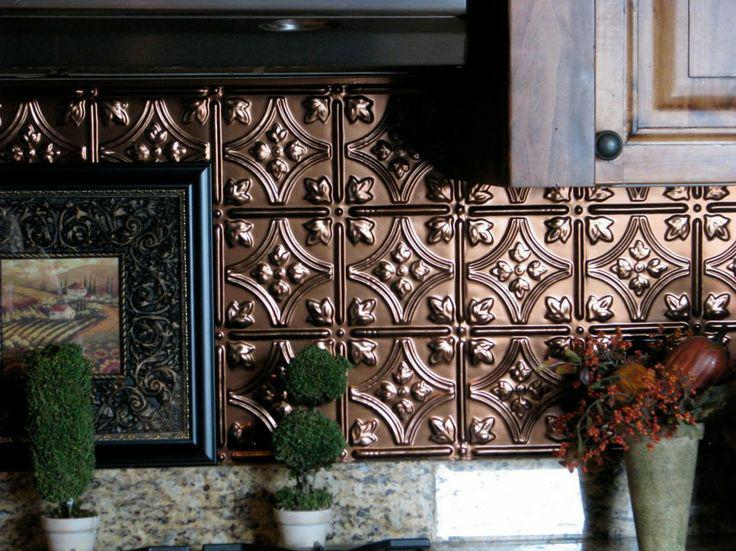 Image of: rustic tile backsplash