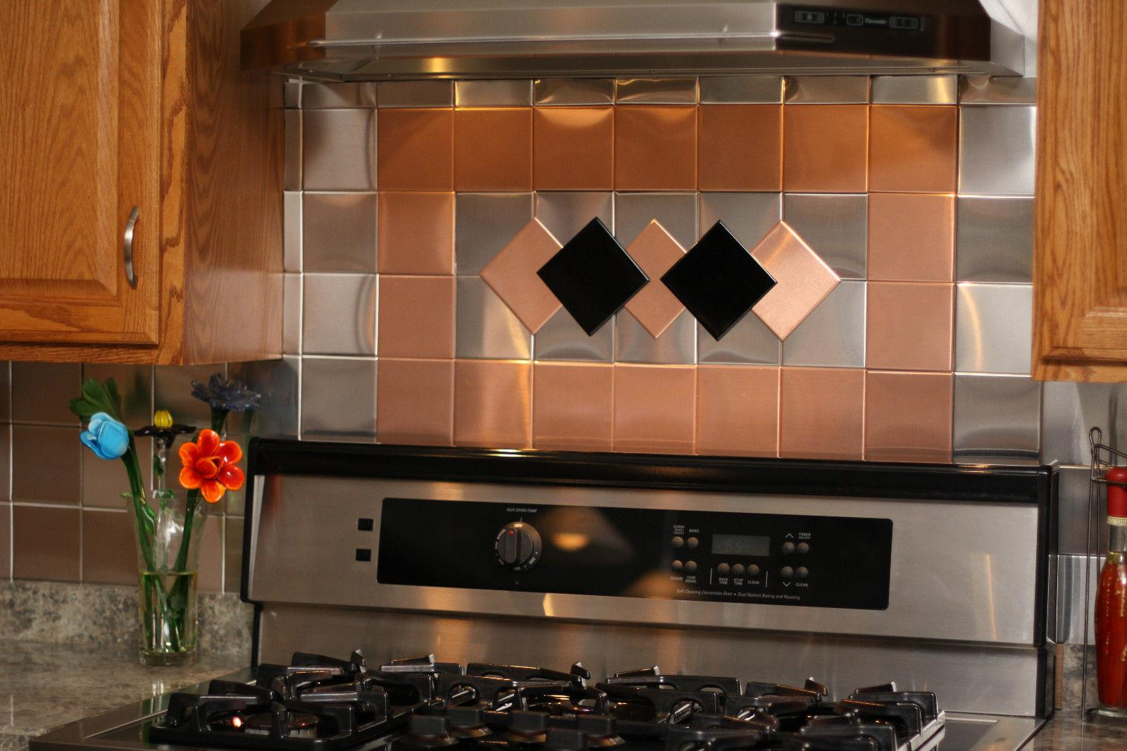 Image of: self adhesive glass tile backsplash