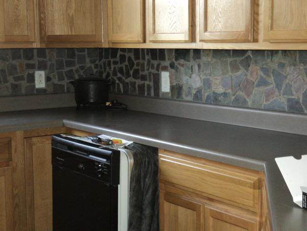 Image of: slate backsplash ideas for the kitchen
