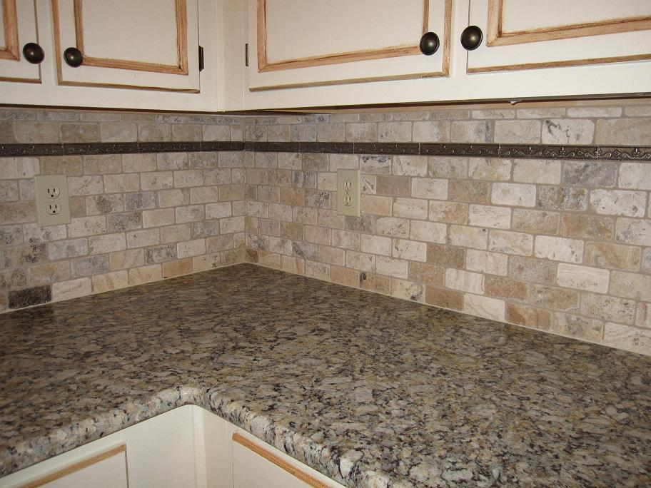 Image of: Small Stacked Stone Tile Backsplash