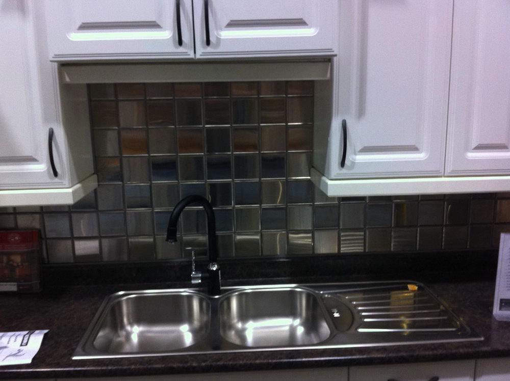Image of: stainless steel kitchen backsplash new