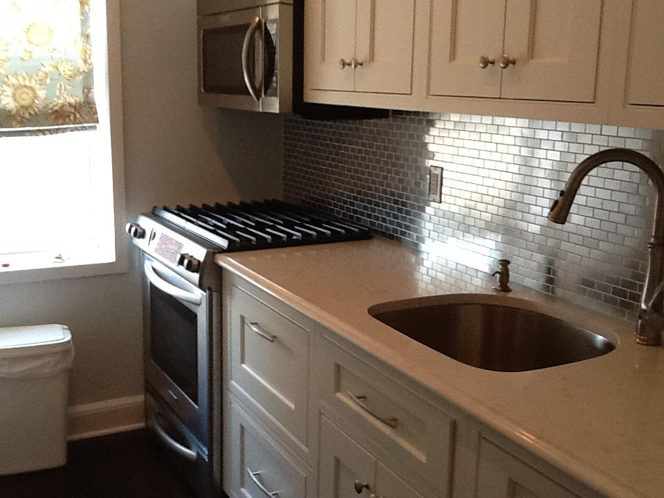 Image of: stainless steel kitchen backsplash