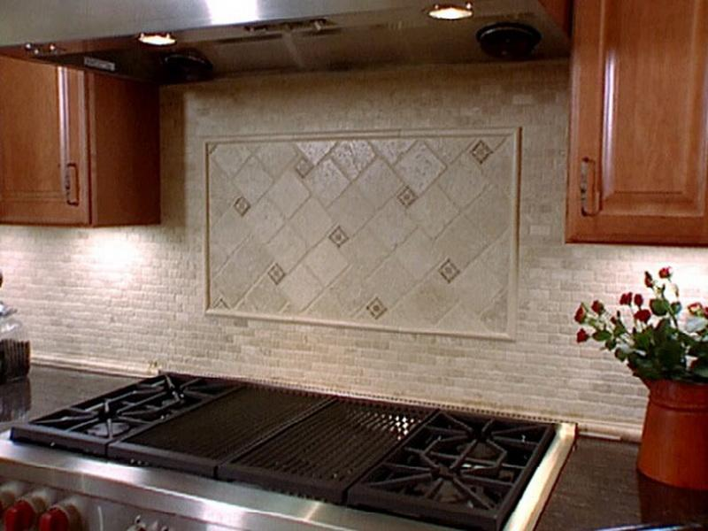 Image of: stainless steel stove backsplash