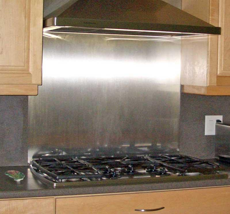 Image of: stainless steel subway tile backsplash