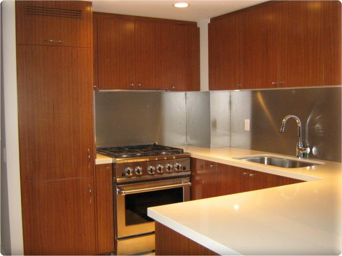 Image of: stainless steel tile backsplash