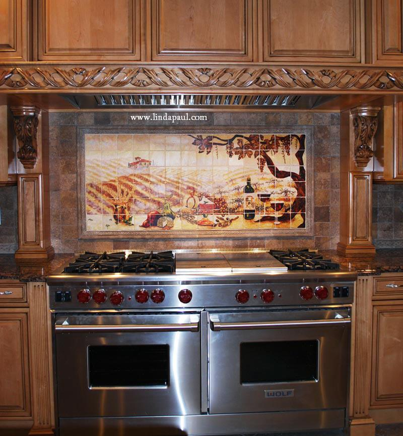 Image of: stainless stove backsplash