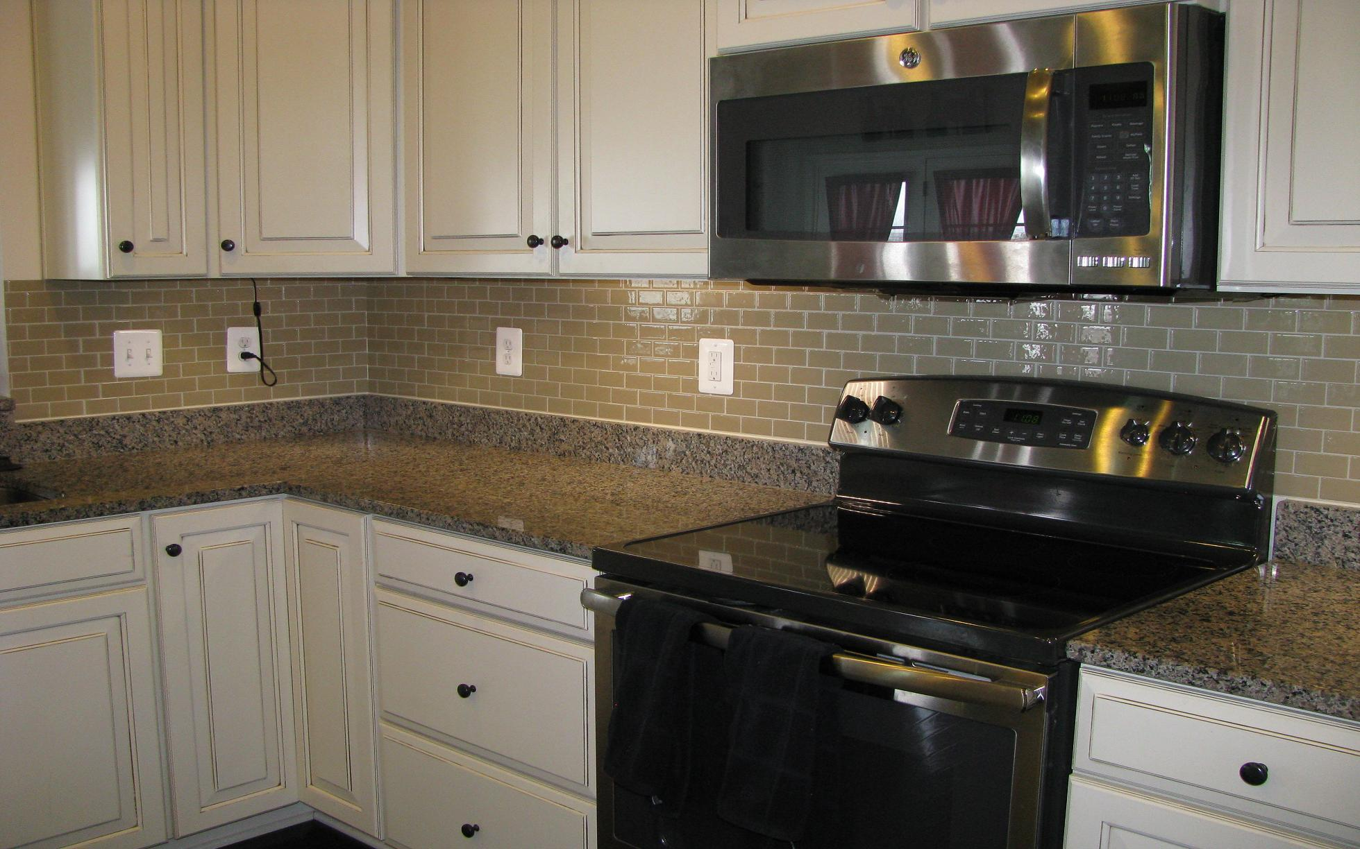 Image of: stick down backsplash