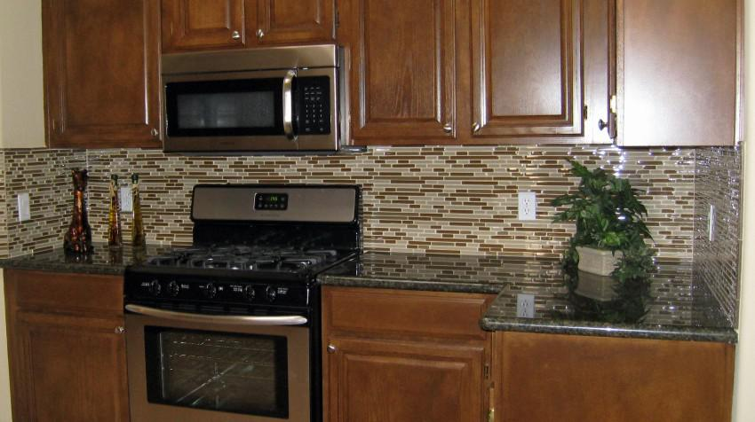 Image of: stick on backsplash tiles for kitchen
