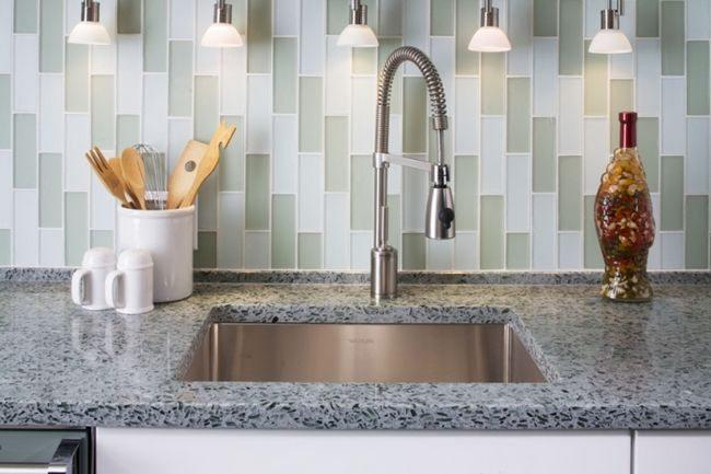 Image of: stick on backsplash tiles