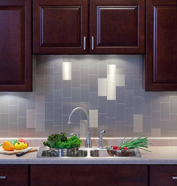 Image of: stick on backsplash