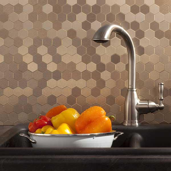 Image of: stick on tile backsplash
