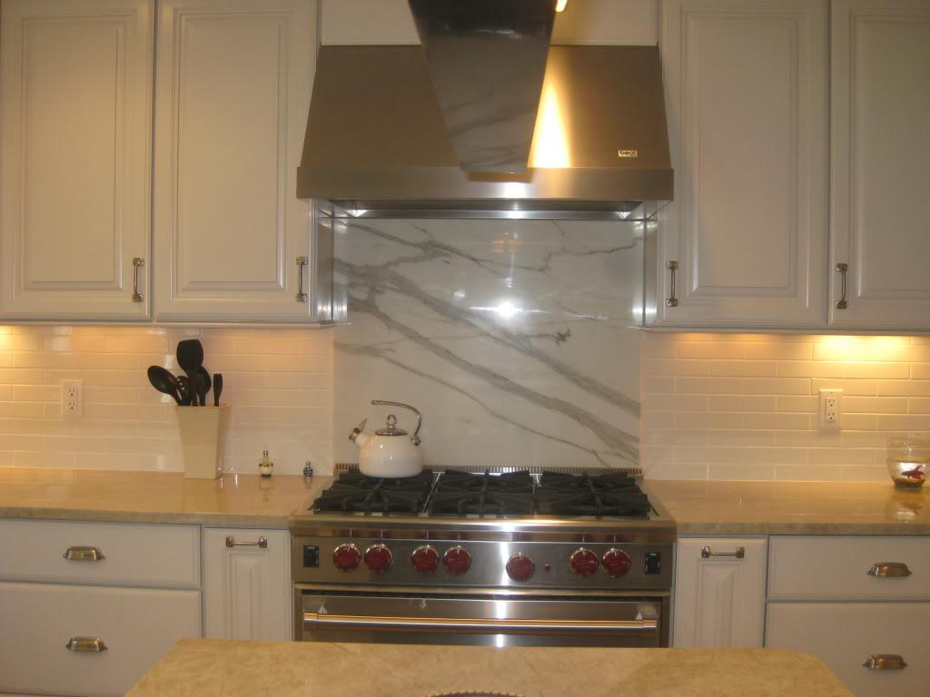 Image of: stove backsplash