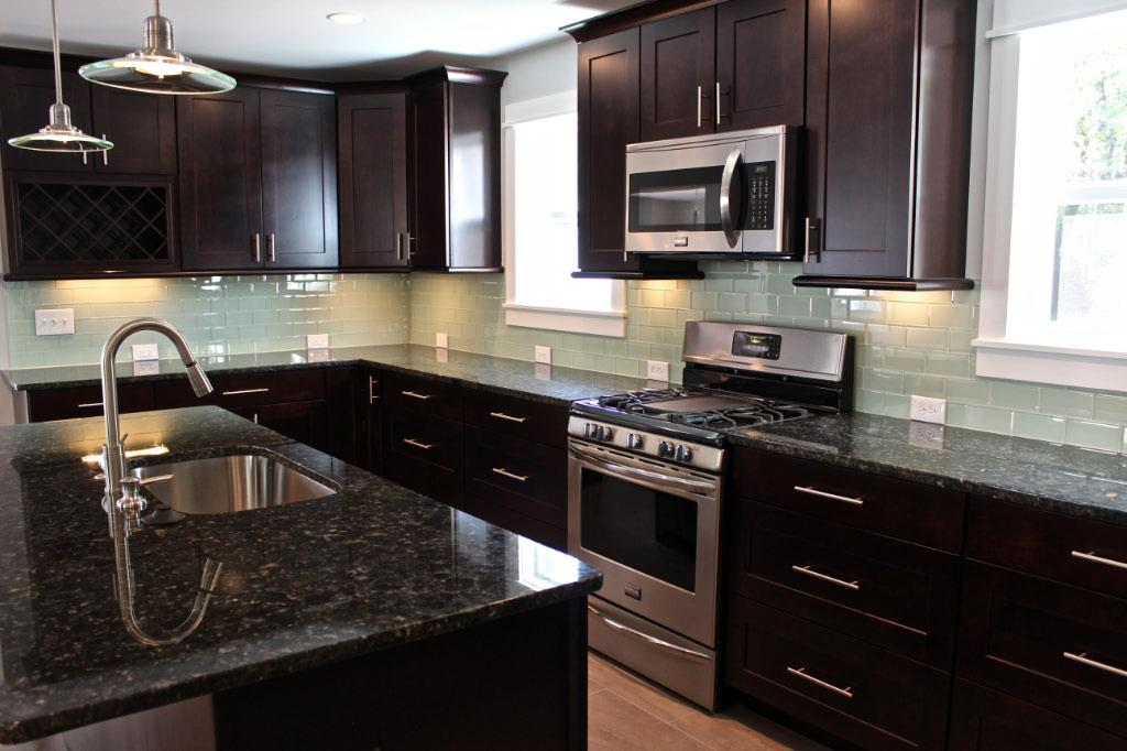 Image of: subway backsplash tile
