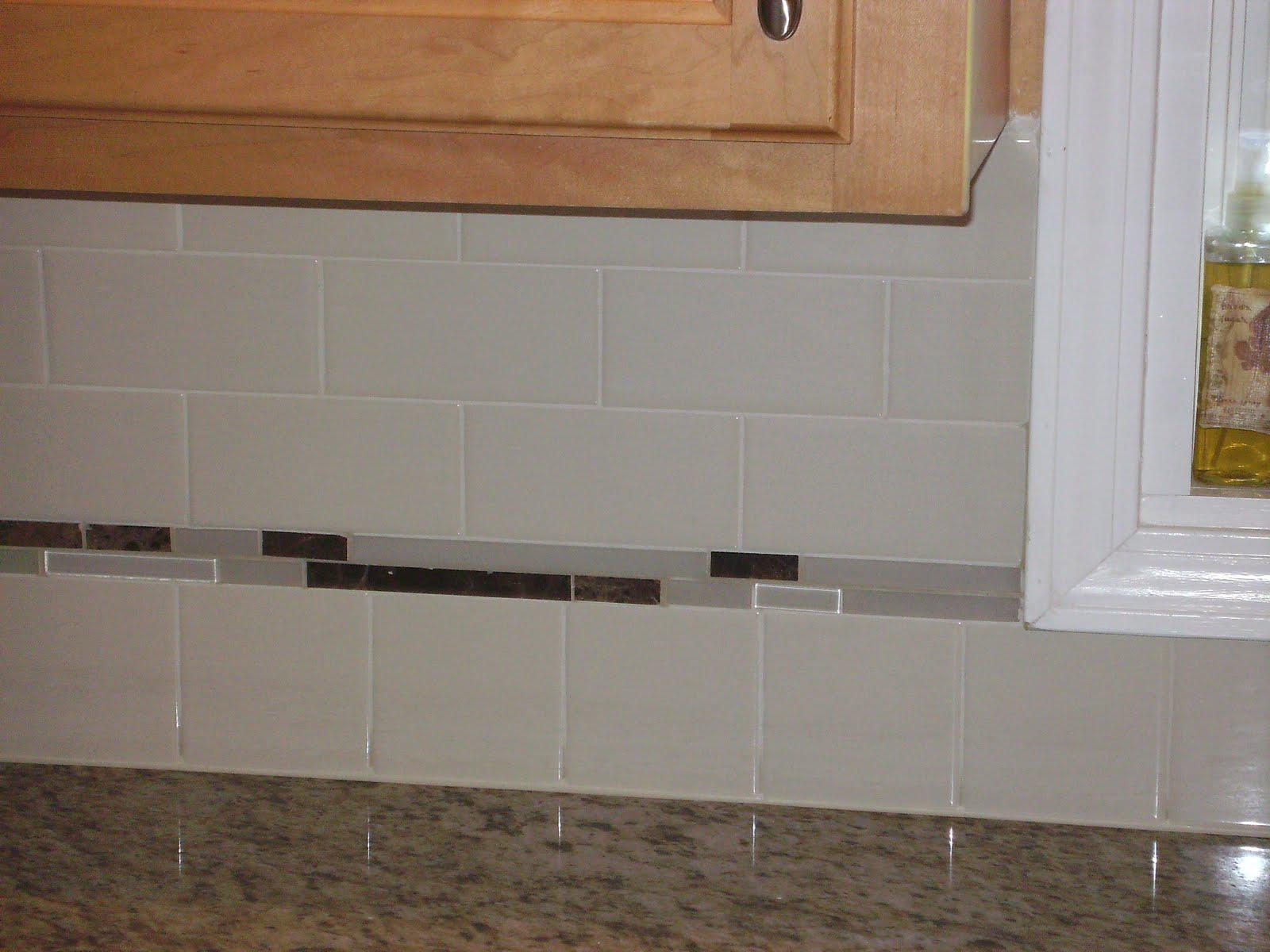 Image of: subway tile backsplash almond