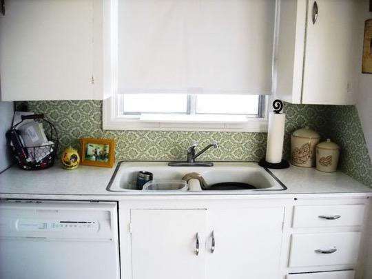 Image of: temporary cover backsplash