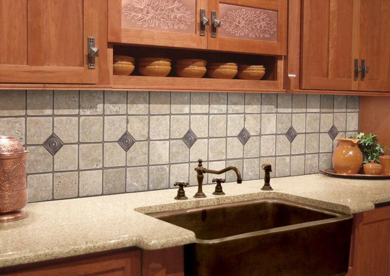 Image of: textured wallpaper backsplash