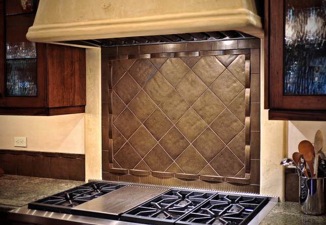 Image of: tile backsplash above stove