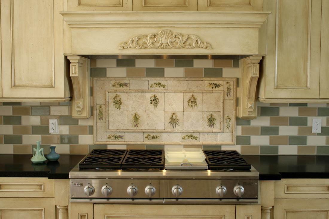 Image of: tile backsplash and outlet covers