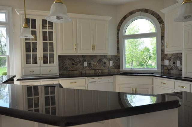 Image of: tile backsplash around window